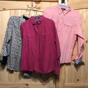 Ladies western wrangler shirts L